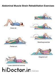 با ورزش شکم را سفت کنید