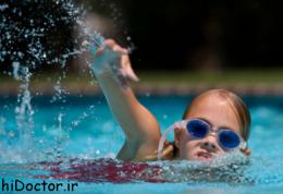 چرا شنا برای بچه ها خوب است
