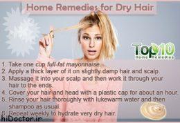 با ساده ترین داروهای خانگی موهای خشک را درمان کنید