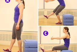 عضلات پایین تنه را با این حرکات زیبا کنید( آموزش تصویری)