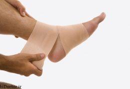 شیوه صحیح باند پیچی کردن مچ پای پیچ خورده