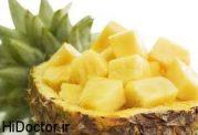 درمان التهاب و کبودی پوست با آناناس