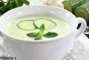 رسپی سوپ کم کالری-سوپ سرد دوغ و خیار