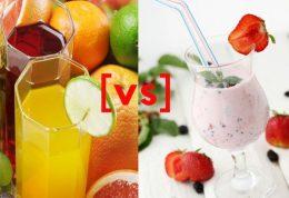 نوشیدنی تابستانی: آب میوه مرکبات در مقابل اسموتی میوه
