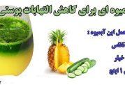 آبمیوه ای برای کاهش التهابات پوستی