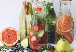 بدنی پر آب با آب های طعم دار