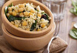 رسپی ناهار سالم: برنج با نخود و نعنا