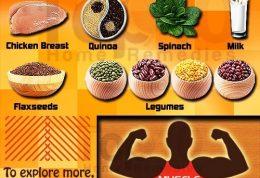 10 غذای فوق العاده برای ساخت عضله