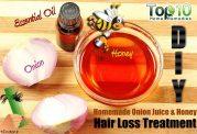 آب پیاز و عسل درمان طبیعی ریزش مو