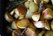 سیب زمینی سرخ شده با روغن کمتر و سبزیجات بیشتر