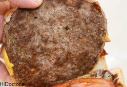 ابتلا به سرطان با گوشت فست فودی