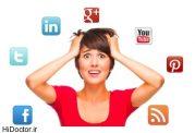 استرس مزمن در پی استفاده از شبکه های اجتماعی