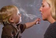 گرفتاری نوزادان با مادران سیگاری