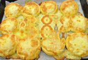 پیتزاهای کوچک سیب زمینی با پنیر