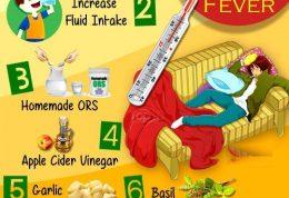 درمان تب حصبه بدون دارو