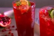 نوشیدنی سرد قرمز