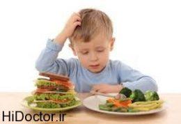 عادات تغذیه ای از طفولیت