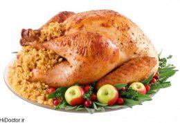 مرغ در مقابل بوقلمون