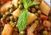 غذای سیر کننده- نخودفرنگی و سیب زمینی