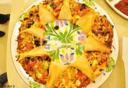 پیتزای طرح دار (گل)