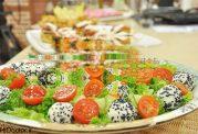 سالاد بهاری با توپهای پنیری
