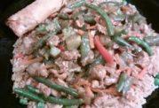 از مرغ و سبزیجات سرخ شده غذای متفاوت درست کنید