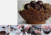 از شکلات کاسه درست کنید