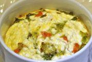 با سبزیجات و پنیر شام درست کنید