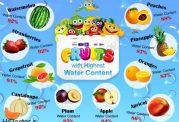 10 میوه ای که آب زیادی دارد