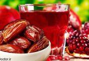 ترکیب خرما  و انار به کمک قلبتان می آید