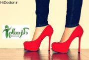 کفش پاشنه بلند با پاها چه می کند؟