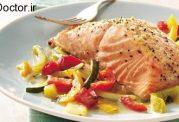 این بار ماهی سالمون  را با طعم  ریحان بخورید