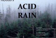 معنا و مفهوم باران اسیدی چیست؟