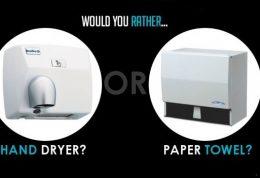 مقایسه دستمال کاغذی و خشک کن برقی