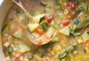 سوپ  تابستانی مغذی