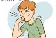 شدت سرفه و مشکل  در تنفس