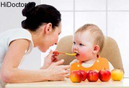 تغذیه کودک با پوره