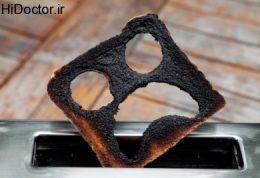 خوردن غذاهای سوخته با آکریل آمید عوامل افزایش دهنده خطر سرطان