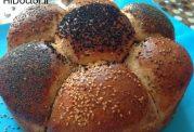 نان گل با آرد گندم کامل