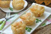 پیراشکی پنیر با یوفکای باقلوا