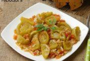 خوراکی از گوجه فرنگی سبز و برنج