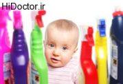 مسموم شدن اطفال به وسیله مواد شوینده
