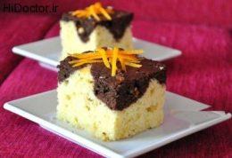کیک  پرتقالی با آرد برنج
