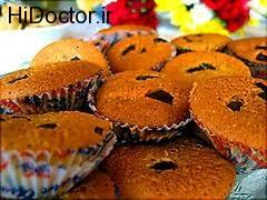 کیک های کوچک  بدون شکر در قالب کیک یزدی