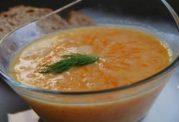 سوپ هویج با شیر کم چرب
