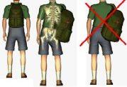 روش استاندارد جابجاکردن کوله پشتی