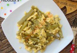 ترشی لوبیا سبز با تخم مرغ