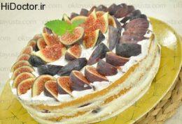 طرز درست کردن کیک انجیری