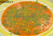 سوپ رشته و زردچوبه