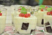 دسر لیوانی کیک و خامه